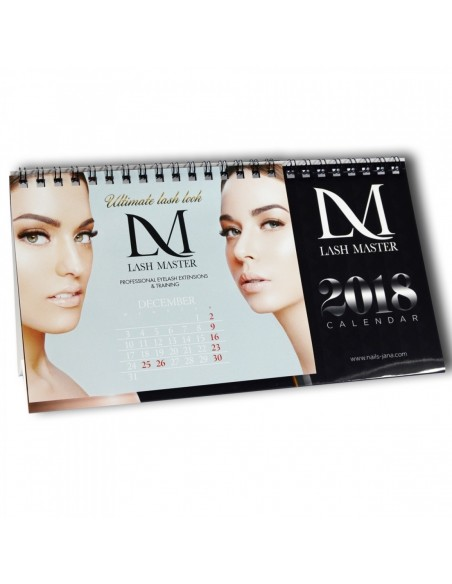 Mini Desktop Calendar LM - Lashes
