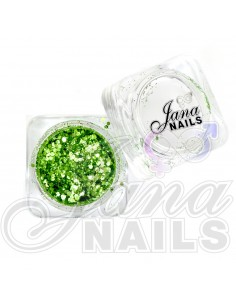 JN Confetti Mix Shine Light Green 5 gr