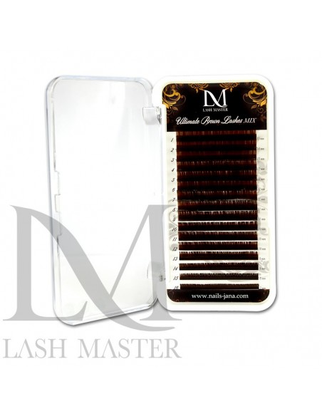 Mix C 0.07 LM Ultimate Silk Brown Volume Mix Lashes