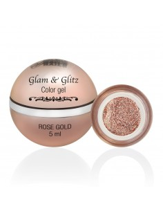 Glam & Glitz Color Gel - Rose Gold 5ML