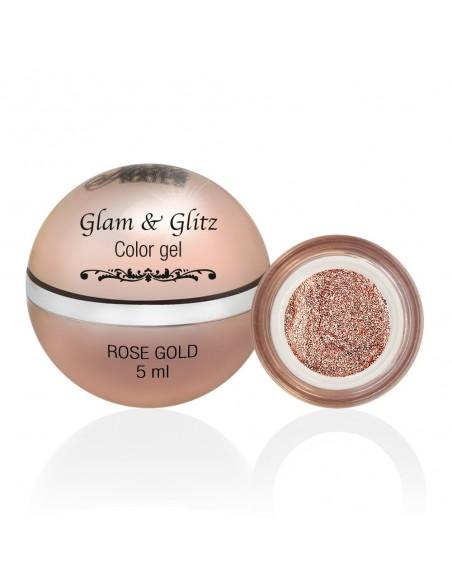 Glam & Glitz Color Gel - Rose Gold 5ML