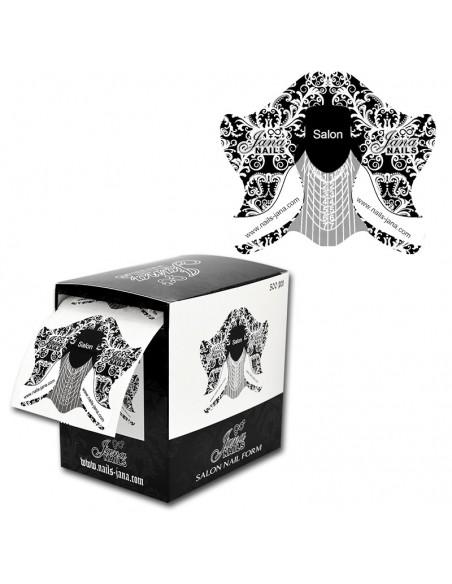 Chablons de Salon Noirs & Boîte 500 pcs