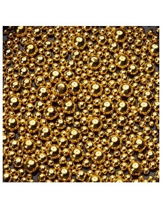 Beads of Different Sizes - Gold