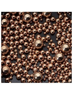 Beads of Different Sizes - Rose Gold