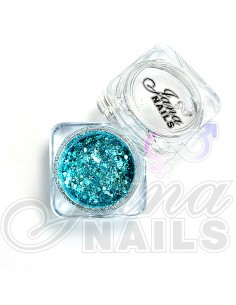 JN Confetti Mix Shine Light Blue 5 gr
