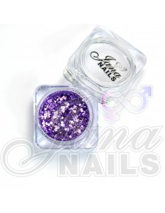 JN Confetti Mix Shine Light Violet 5 gr