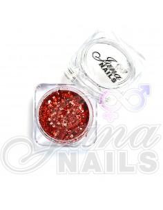JN Confetti Mix Shine Red 5 gr