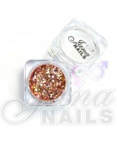 JN Confetti Mix Shine Rose Gold 5 gr