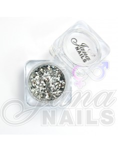 JN Confetti Mix Shine Silver N°2 5 gr