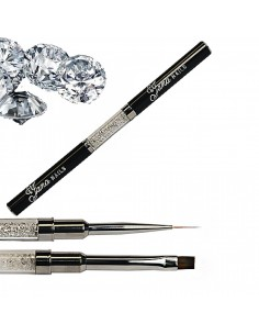 Double-Sided Brush with Diamonds