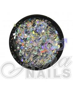 Multicolor Glitter Mix Silver